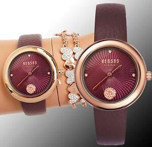 Versus Versace Women's Watch VSPEN0319 Lea Swarovski Crystai IP Rose Gold New