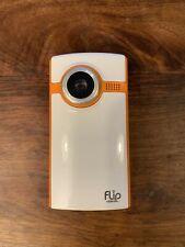 Flip Video Cámara-Modelo F260N-Blanco y Naranja