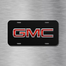 GMC Vehicle License Plate Front Auto Tag Plate Black Carbon Fiber Truck Sierra