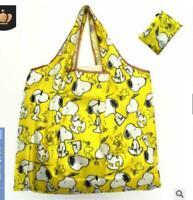 new Snoopy Foldable Shopping Nylon Bag ~yellow