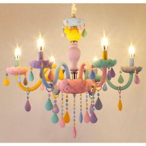 Crystal Modern Pendant Lights Macaron Color Ceiling Lamps Hanging Light Fixtures