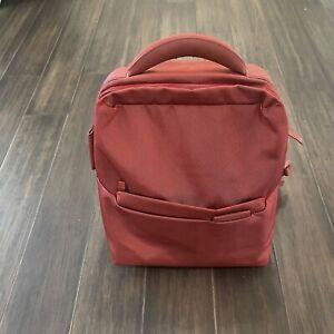 Mandarina Duck (Italian brand) AUTHENTIC Red Nylon Leather Trim Backpack