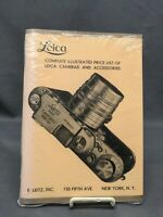 Leica 1939 Catalog Illustrated Price List of cameras and accessories - Original