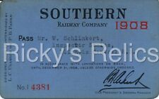 1908 SOU Annual Pass Southern Railway Supervisor of Scales IC
