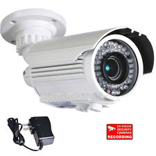 Outdoor Security Camera 42 IR LEDs Night 4-9mm Lens w/ Sony Effio CCD Power A09