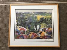 "Leroy Neiman ""Arnie in the Rain"" Original Signed Litho- Golf-The Masters"