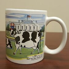 1999 Collectible Sherwood Cow Mug Road Trip Cows Travelin East