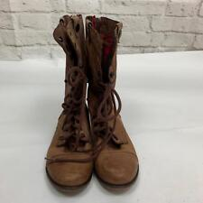 Steve Madden Size 8 Women's Ankle Combat Boot Brown Leather