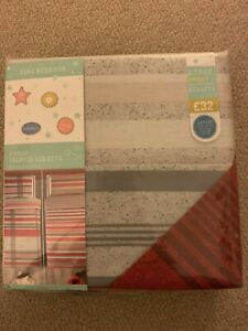 Next 2 Pack Single Bedsets Red Check Stripe