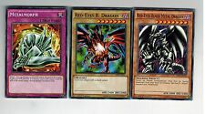 3-Card Set: Red-Eyes Black Metal Dragon+ B. Dragon +Metalmorph Mili 1st YUGIOh