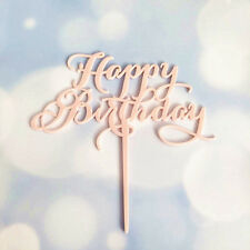 Happy Birthday Acrylic Cake Topper Decor Silver Gold Black Party Decoration Hot