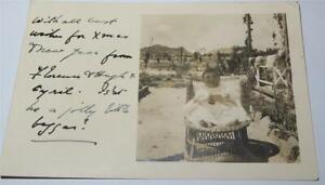 BABY WW1 ERA REAL PHOTO POSTCARD SALONICA  c 1917     848
