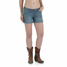 Wrangler Womens Western Rock 47 Ultra Low Rise Shorts - 30 inch - NEW - WHH31SE