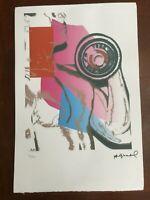 Andy Warhol Litografia 57 x 38 Arches France Timbri Gallerie d' Arte