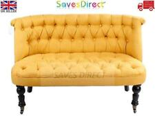 Sleek Modern Yellow 2 Seater Tuffed back Sofa Chair Office Home New (7433-T2)