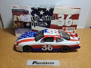 2001 Ken Schrader #36 Stars & Stripes Auto w/COA 1:24 NASCAR Team Caliber MIB