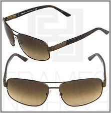 PRADA PR58NS Brushed Bronze Brown Havana ACD-6S1 PR 58N Aviator Unisex Gradient