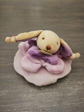 Doudou Et Compagnie Petit Lapin Violet Mauve Carambole coussin rond