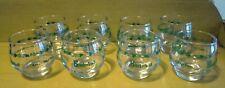 Eight (8) Vintage 2oz BROTHERHOOD Ball Wine Tasting Glasses Clear w/Green Logo