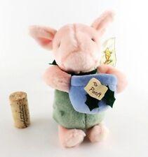 "Disney Gund Classic Pooh Piglet Christmas Plush Honey Pot 6"" Stuffed Toy w Tags"