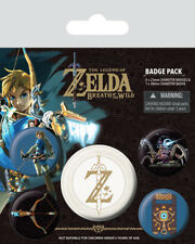 *OFFICIAL* The Legend Of Zelda Breath Of The Wild Z Emblem Badge Pack FAST POST