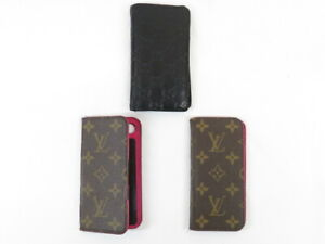 Louis Vuitton / GUCCI iPhone Case Set of 3 for SE2・8・7 Pre-owned JUNK