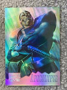Apocalypse 1995 Holoflash refractor marvel masterpieces xmen fleer skybox Mint