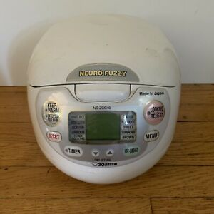 Zojirushi NS-ZCC10 5.5 Cup Neuro Fuzzy Rice Cooker With Bowl And Manual