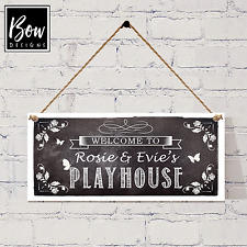 HANDMADE GIRLS PLAYHOUSE SIGN - PERSONALISED SUMMERHOUSE HANGING SIGN - 203