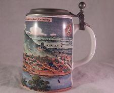 Vintage Germany Reutter Porzellan Beer Stein Lid Berlin Heidelberga