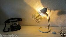 Tischlampe Effektleuchte Vintage Bügel Leuchte Retro Glühbirne Siber Kuppe