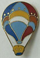 Vintage Hot Air Balloon Lapel Hat Dress Pin Tac Tie Tack Brooch Enamel