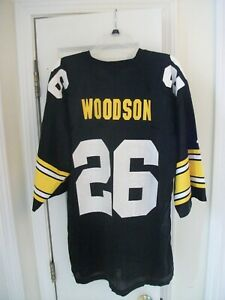 Starter Authentic Rod Woodson #26 Pittsburgh Steelers NFL Game Black Jersey XL