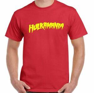 Mens Hulkamania T-Shirt Hulk Hogan Stag Doo Fancy Dress Wrestling Gym Training