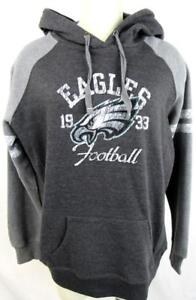 Philadelphia Eagles Womens Large Screened Pullover Hooded Sweatshirt AEAG 184