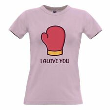 Valentines Day Womens TShirt I Glove You Pun Romantic Boxing Joke