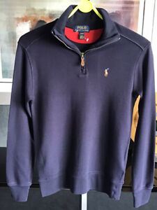Ralph Lauren Boys Navy Soft Cotton Polo Top With Embroidered Logo 10-12 Years