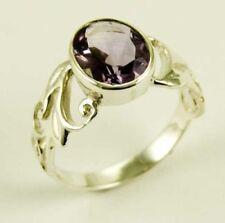 Anelli di lusso con gemme in argento sterling pietra principale ametista Misura anello 12