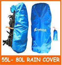 NEW Large Backpack Rain Cover 55L - 75L Up to 80L Rucksack Rain Cover ORANGE
