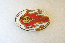 CARDIFF,Hard Rock Cafe Pin,Rugby Ball with Flames,* Closed Cafe