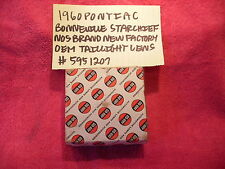 1960 PONTIAC BONNEVILLE STARCHIEF BRAND NEW TAILLIGHT LENS NOS 5951207 FREE SHIP