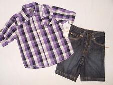 NWT $49.50 KENNETH COLE 2PC shirt, short  BOY 4T multi color