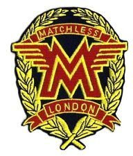 Matchless London Motor Biker Embroidered Iron on Patch