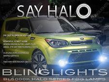 White Halo Fog Lamps Angel Eye Driving Lights Kit Pair for 2014-2017 Kia Soul
