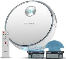 Yaoeoay Robot Vacuum Cleaner, 9 Clean Modes 2200Pa Suction Sweep & Mop 2 in 1 Ro