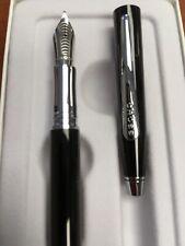 """Cross Classic Century Black Lacquer """"M"""" Fountain Pen"""