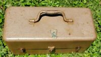 Vintage fishing tackle box, flying lures and supplies!