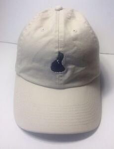Mini Map Tan Beige Cap Hat Adjustable 100% Cotton