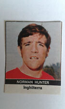 1970 Norman HUNTER Leeds United Adesivo emessi solo in Italia dalla radio corriere