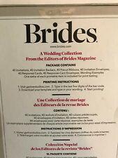 2-Brides® 40 Count Invitation Kit- #75769- Black and White Damask- 80 Total